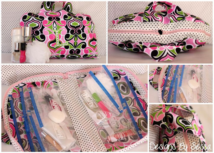Traveling Cosmetic Bag DIY, with Free Pattern