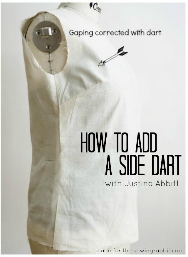 How To Add A Side Dart For Proper Fit The Sewing Rabbit