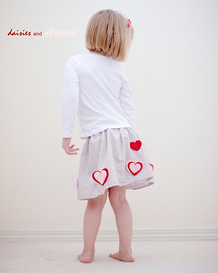 How to make a simple heart skirt