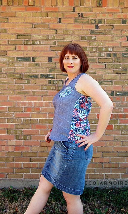 Chambray Top DIY Side View