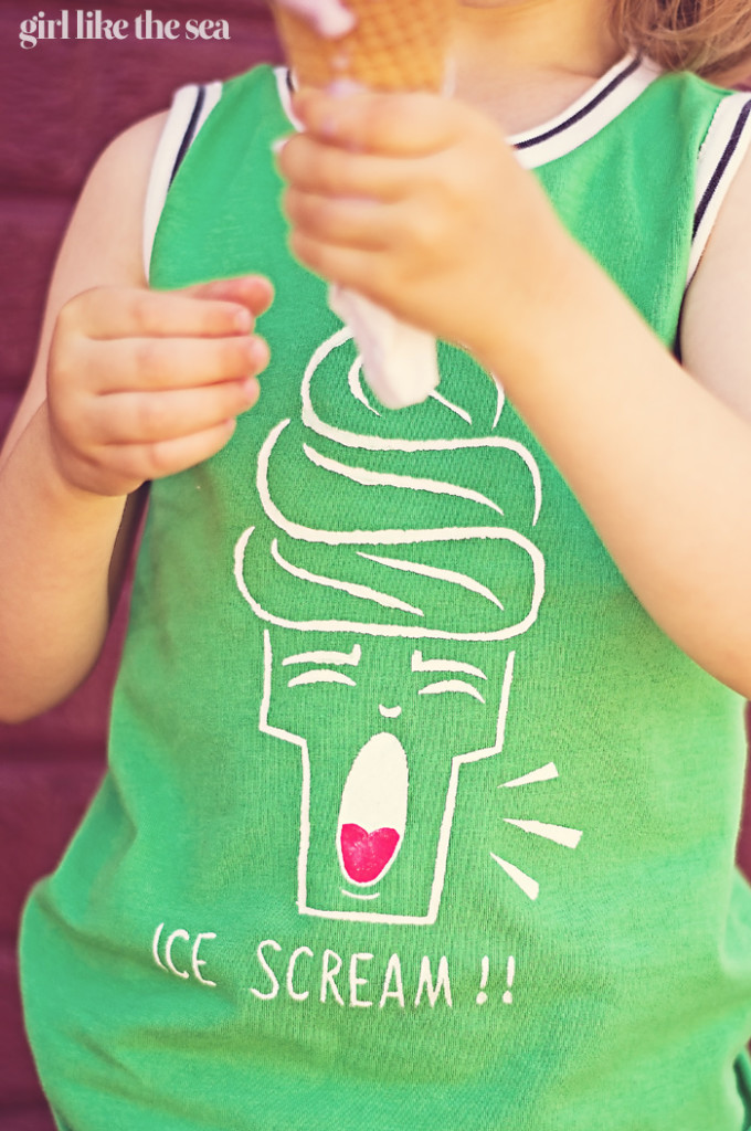 Tank Top DIY - with free ICE SCREAM printable