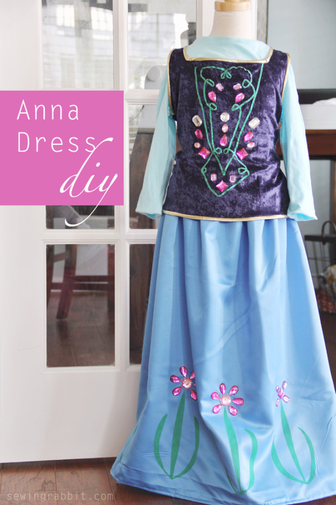 15 awesome diy princess anna costume tutorials for little girls anna costume diy solutioingenieria Image collections