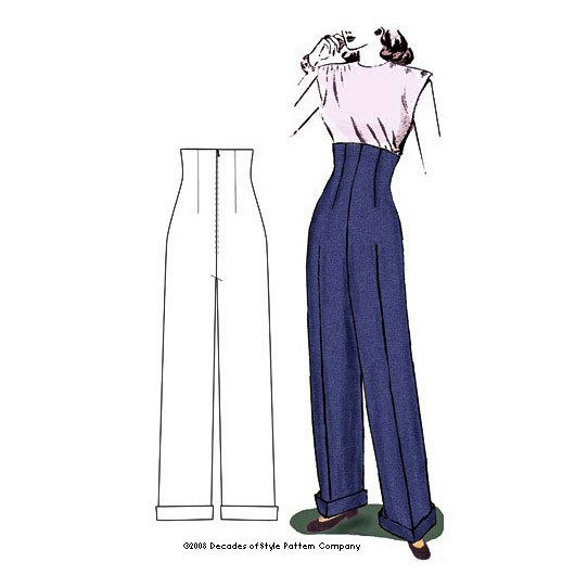 Decades of Style Empire Waist Trousers Pattern