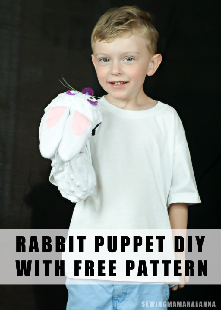 rabbit puppet DIY, with free pattern