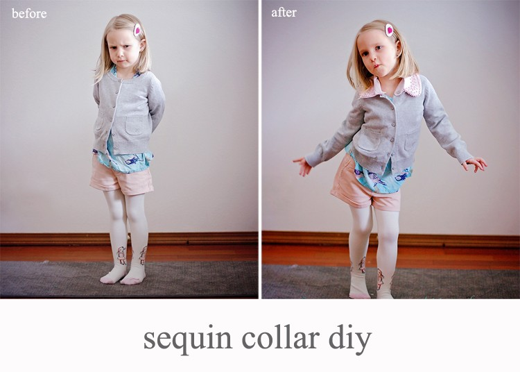 Before & After - how to embellish with a collar