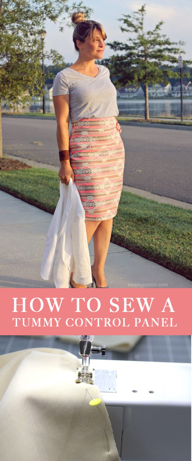 how to sew a tummy control panel