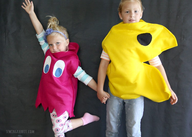 Pac-Man & Ghosts Easy Felt Costume DIY