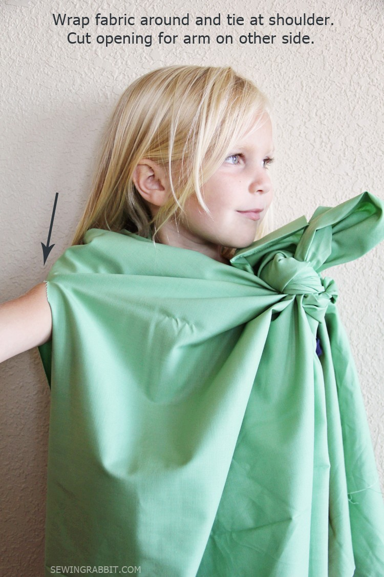 Easy Statue of Liberty Toga Dress