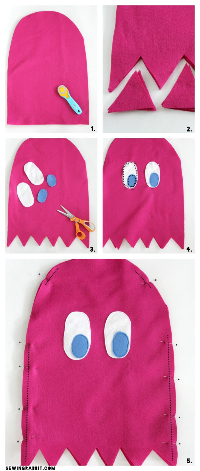 Pac man ghost costume diy the sewing rabbit pac man ghost easy costume diy solutioingenieria Images