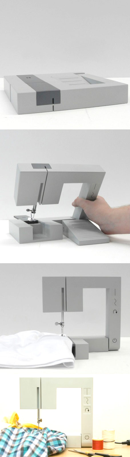 Square-and-portable-sewing-machine