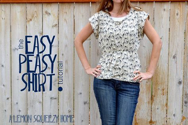 Easy Peasy Shirt DIY, Lemon Squeezy Home