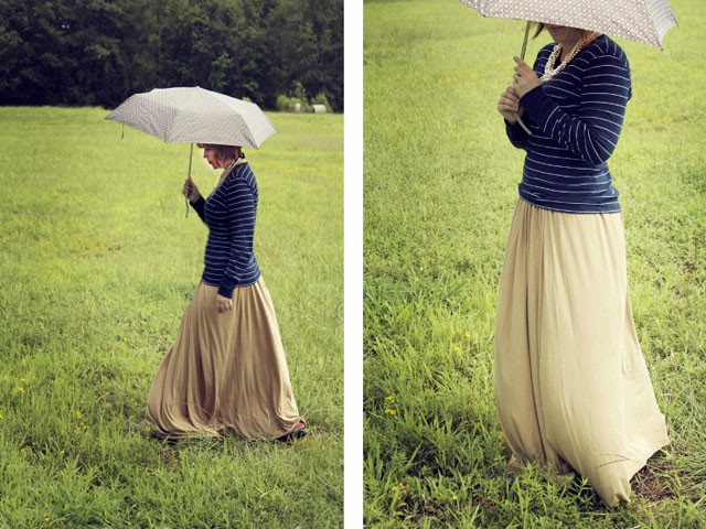 Simple Knit Maxi Skirt, Alida Makes