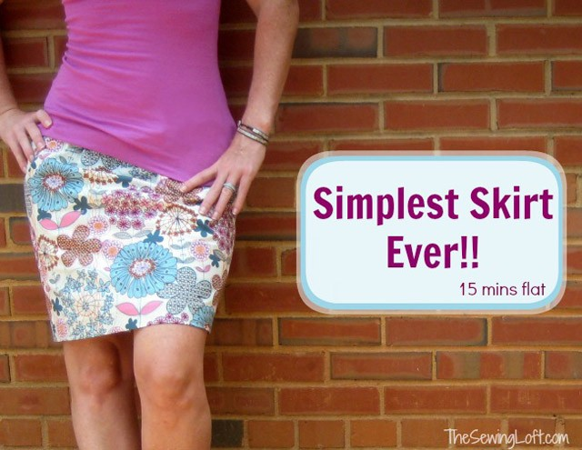 Simple Skirt DIY, The Sewing Loft
