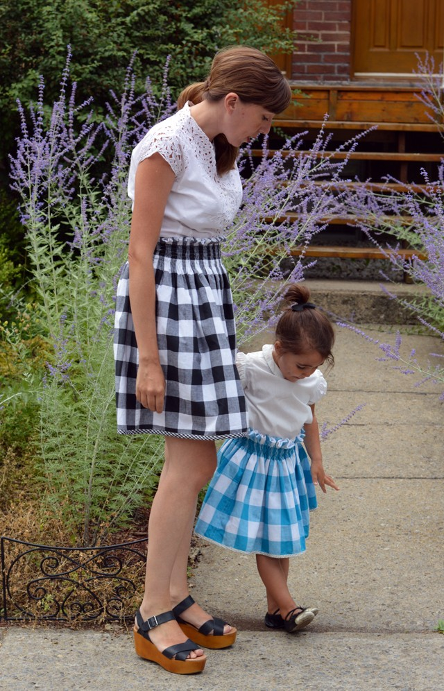 Mother / Daughter Reversible Paper Bag Skirt DIY, Celina Bailey