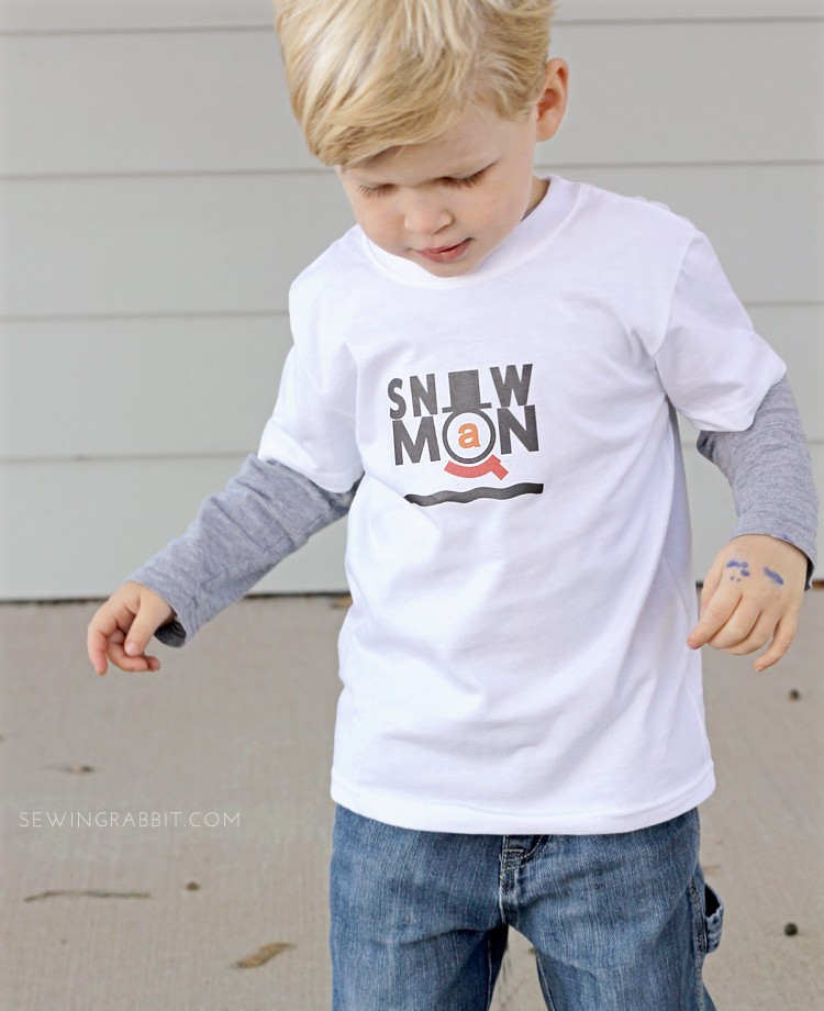 Make your own Snowman T-Shirts