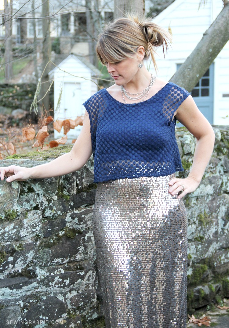The Stepford Crop in Lace - Who Sewed it Better
