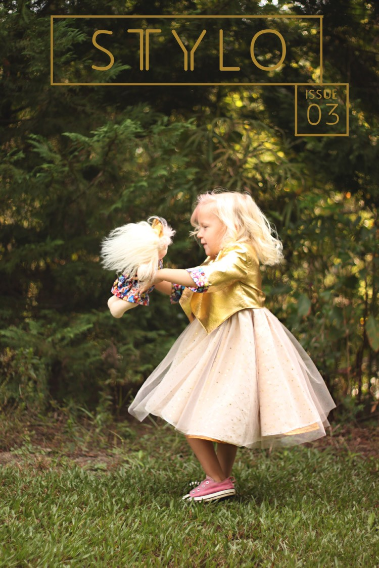 STYLO, Issue 3. The Golden Issue - a kids sewing pattern magazine.