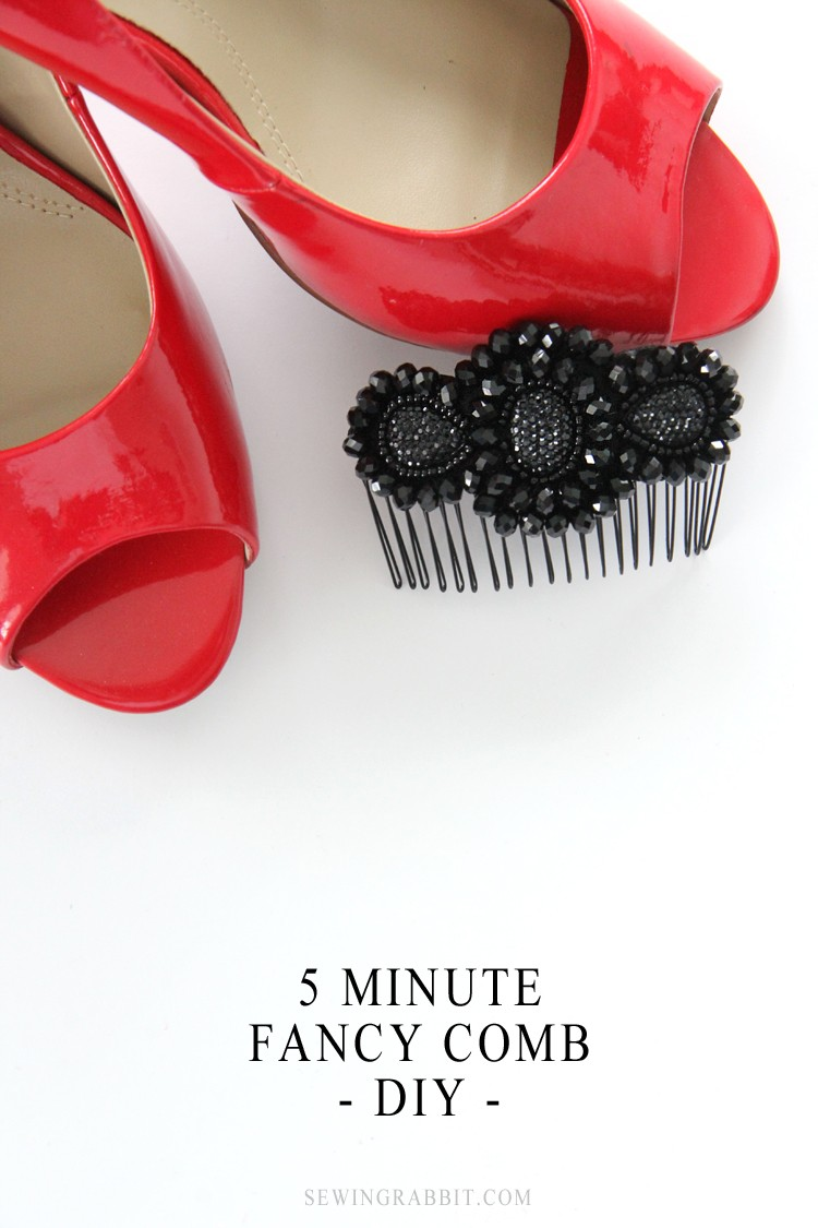 5 Minute Fancy Comb DIY - for making your hair sparkle