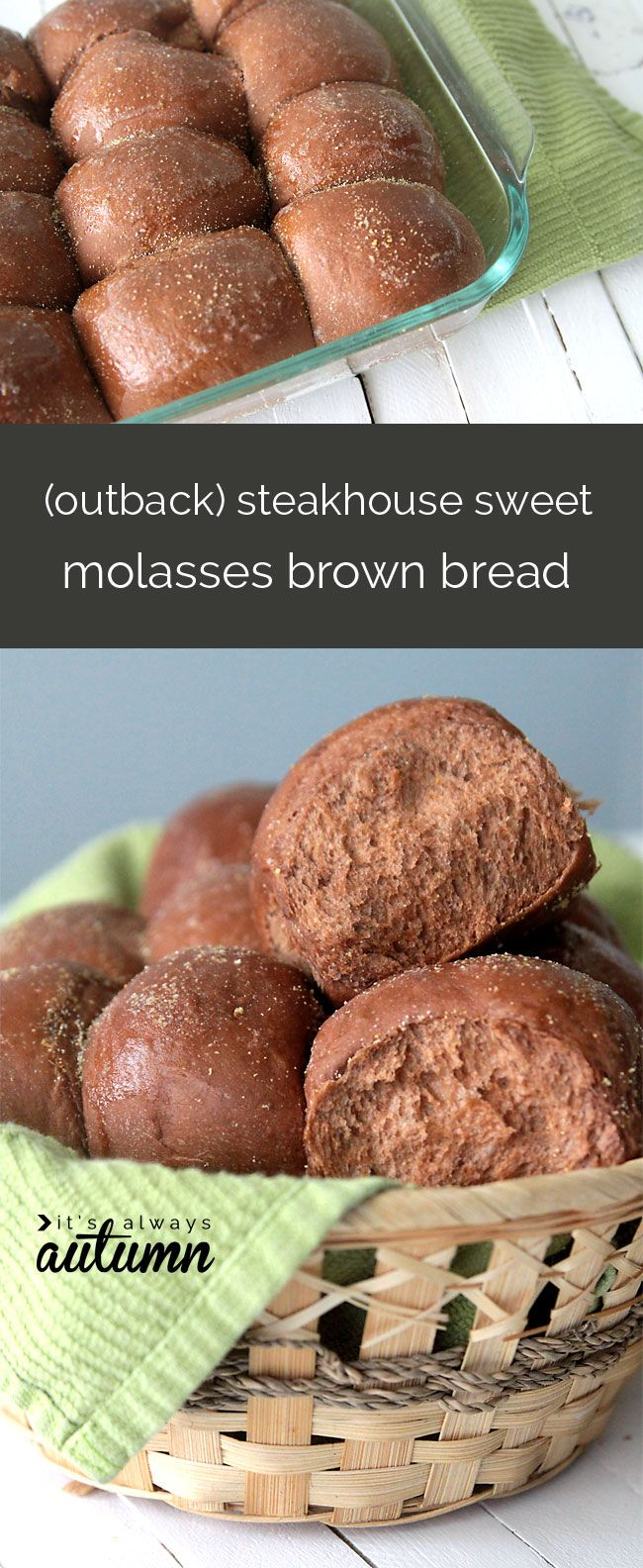 Steakhouse Sweet Brown Molasses Bread Recipe