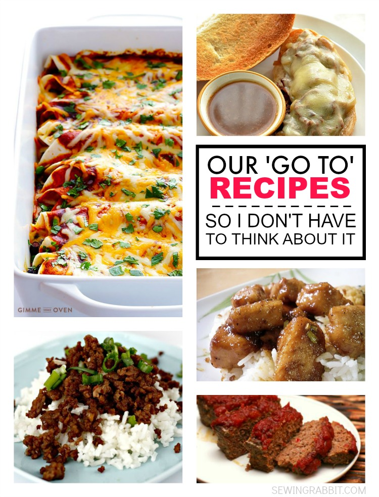 Our 'go to' family recipes, so that you don't have to think about it and can SEW longer.