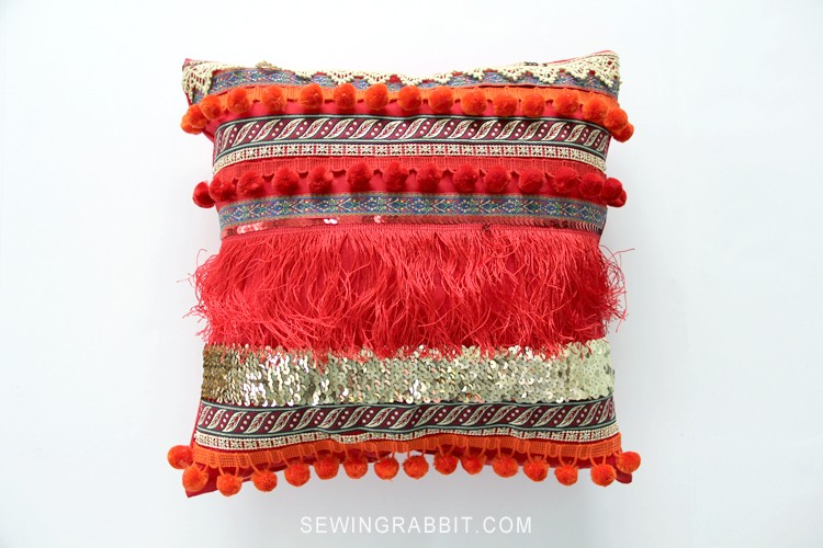 BEGINNER FRIENDLY - Bohemian Inspired Valentine Ribbon Pillow DIY