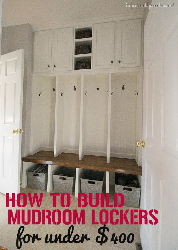 How To Build Mudroom Lockers The Sewing Rabbit