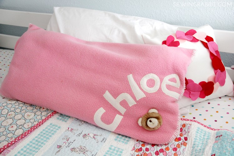 5 Ways to Upcycle Old Baby Blankets - turn it into a pillow!