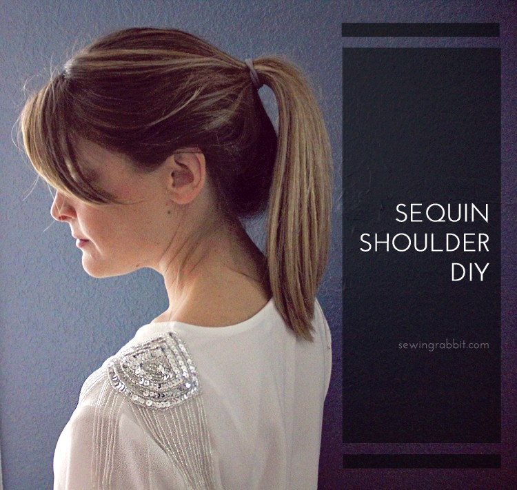Sequin Shoulder DIY - add sequins to any shirt in less than 10 minutes!