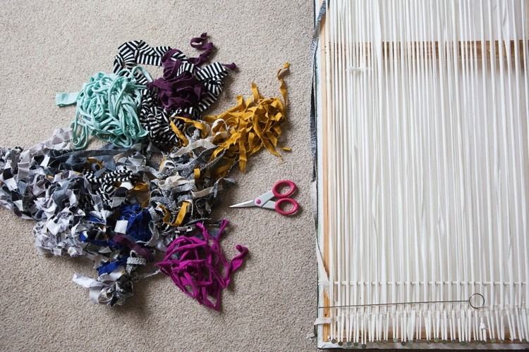 Fabric Scrap Wall Hanging 6
