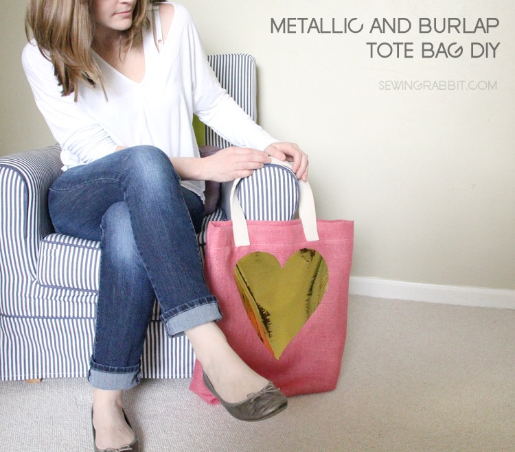 Burlap & Metallic Easter Tote DIY