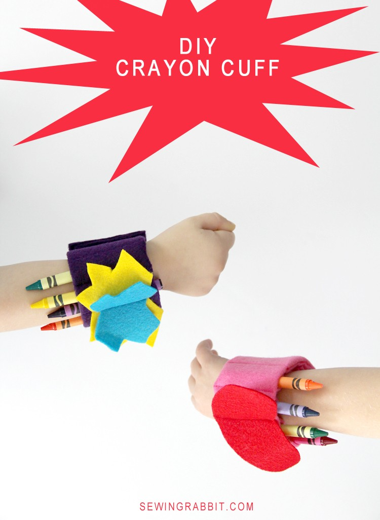 Crayon Cuff DIY - Stop crawling around on restaurant floors looking for lost crayons!