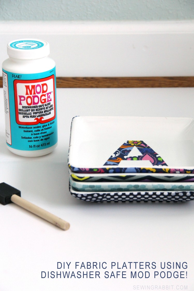 Dishwasher Safe Fabric Platter DIY