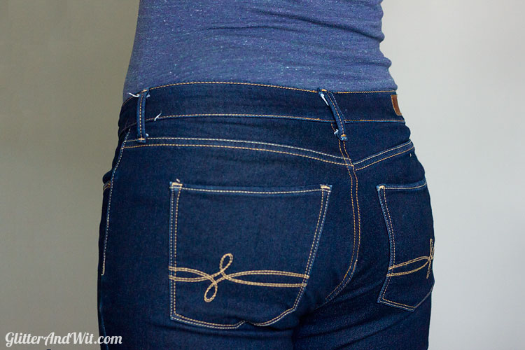 How to Take in your Jeans Waist - Step by Step Tutorial