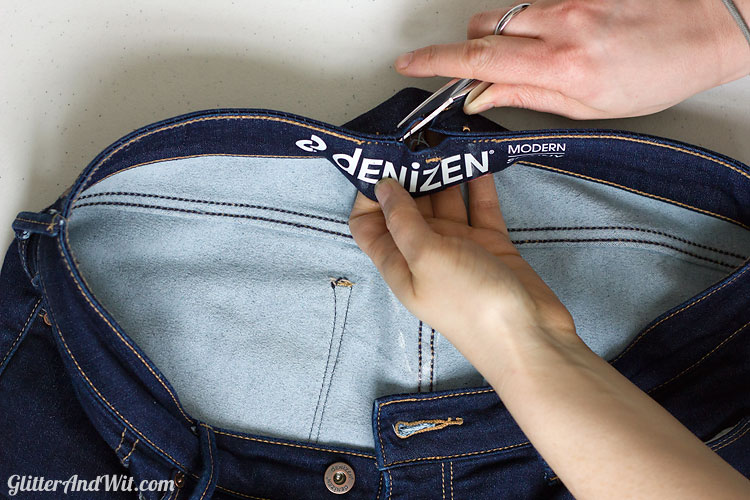 How To Take In A Jeans Waist The Sewing Rabbit Inspiration How To Take In Jeans Without A Sewing Machine