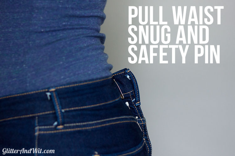 How To Take In A Jeans Waist The Sewing Rabbit Interesting How To Take In Jeans Without A Sewing Machine