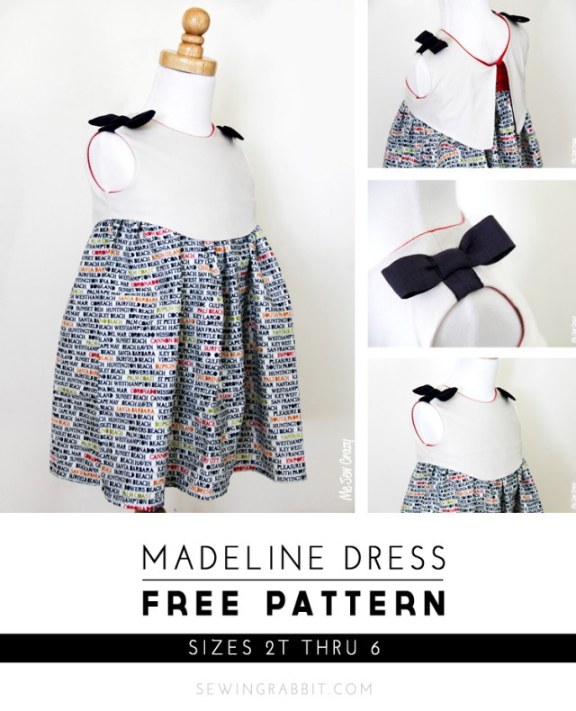 Madeline Dress, Free Pattern - sizes 2T thru 6