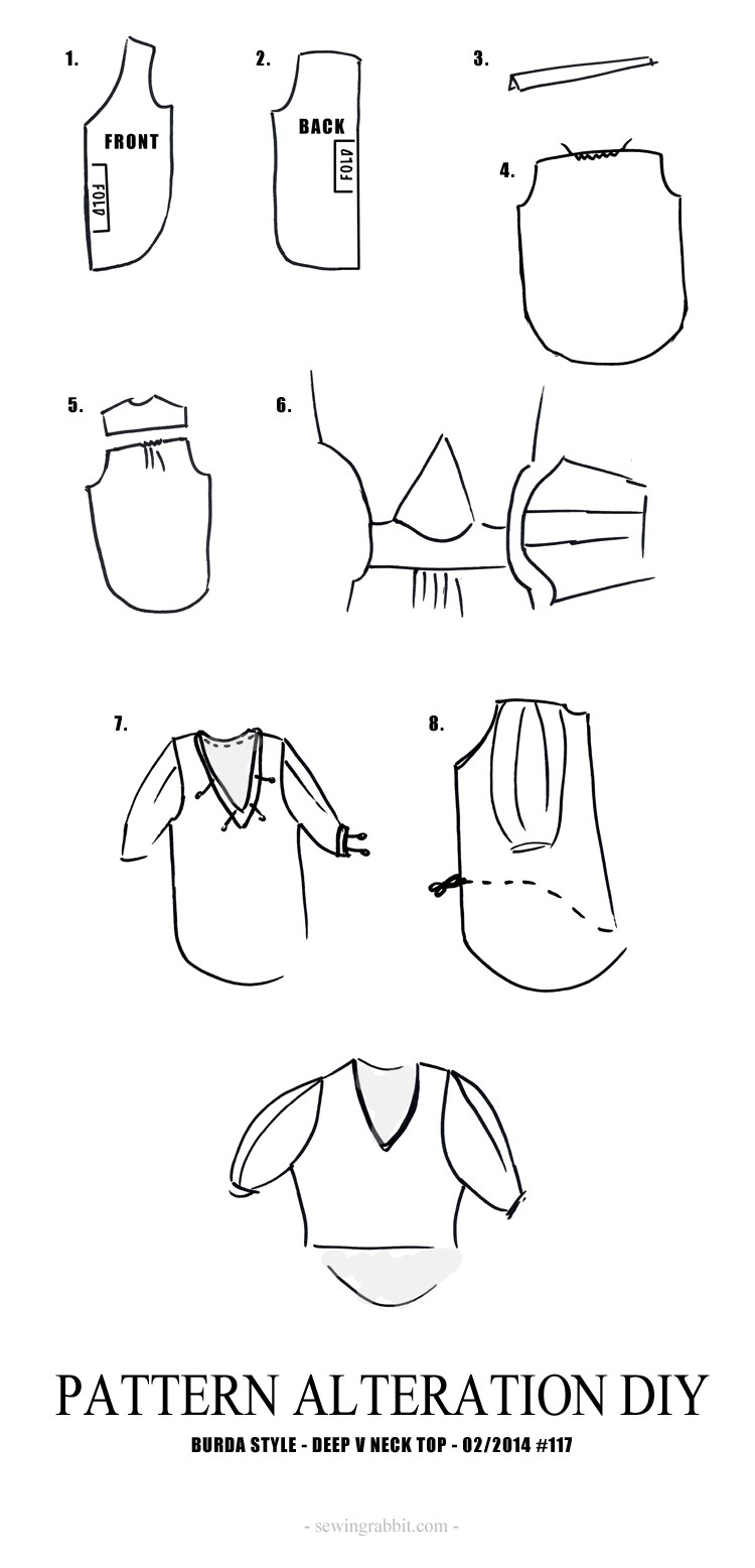 Deep V Neck Top, a Pattern Alteration