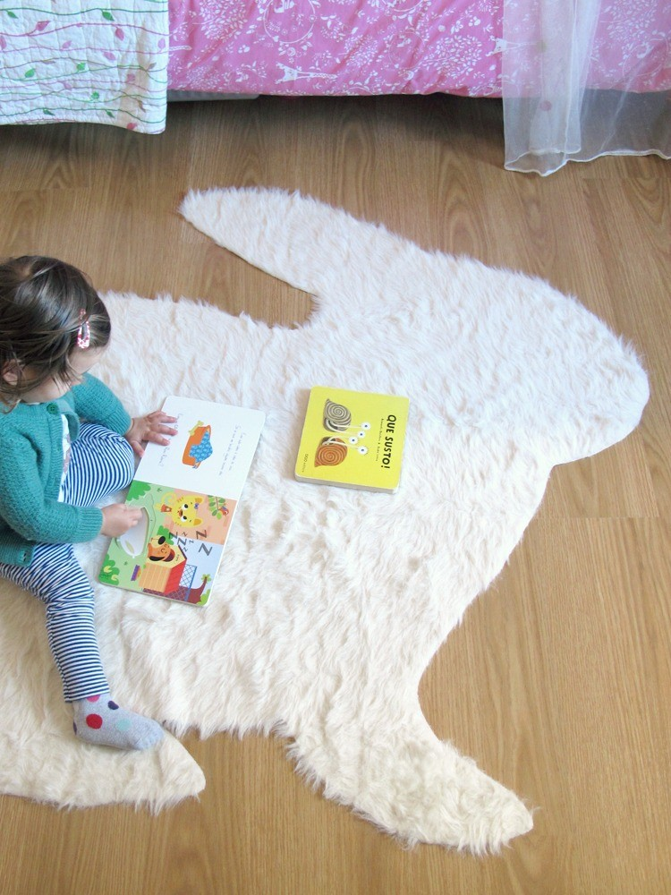 No Sew Rabbit Rug - DIY