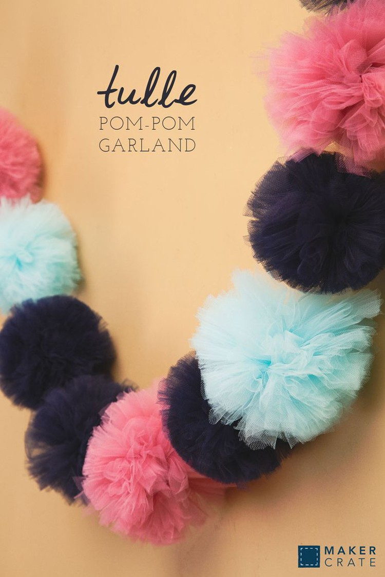 Tulle Pom Garland, 21 things to do with Tulle besides tutus