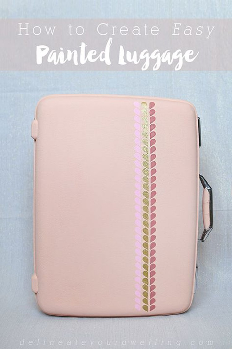 Painted Luggage --- 24 DIYs to help you get ready for Summer Vacation.