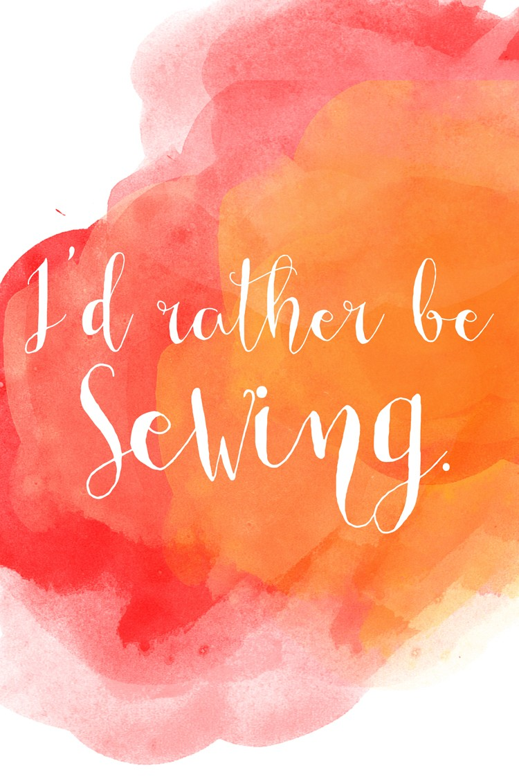 I'd Rather be sewing free print