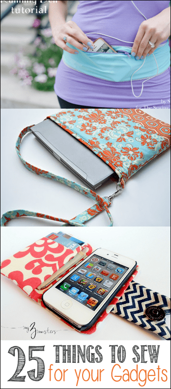 25 Things to Sew for your Gadgets, featuring the Running Belt DIY from the Sewing Rabbit