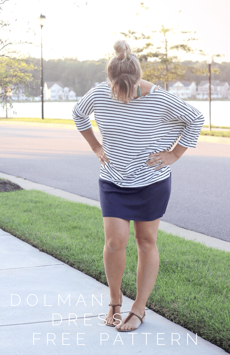 How to sew a women's Dolman Dress, with Free Pattern.