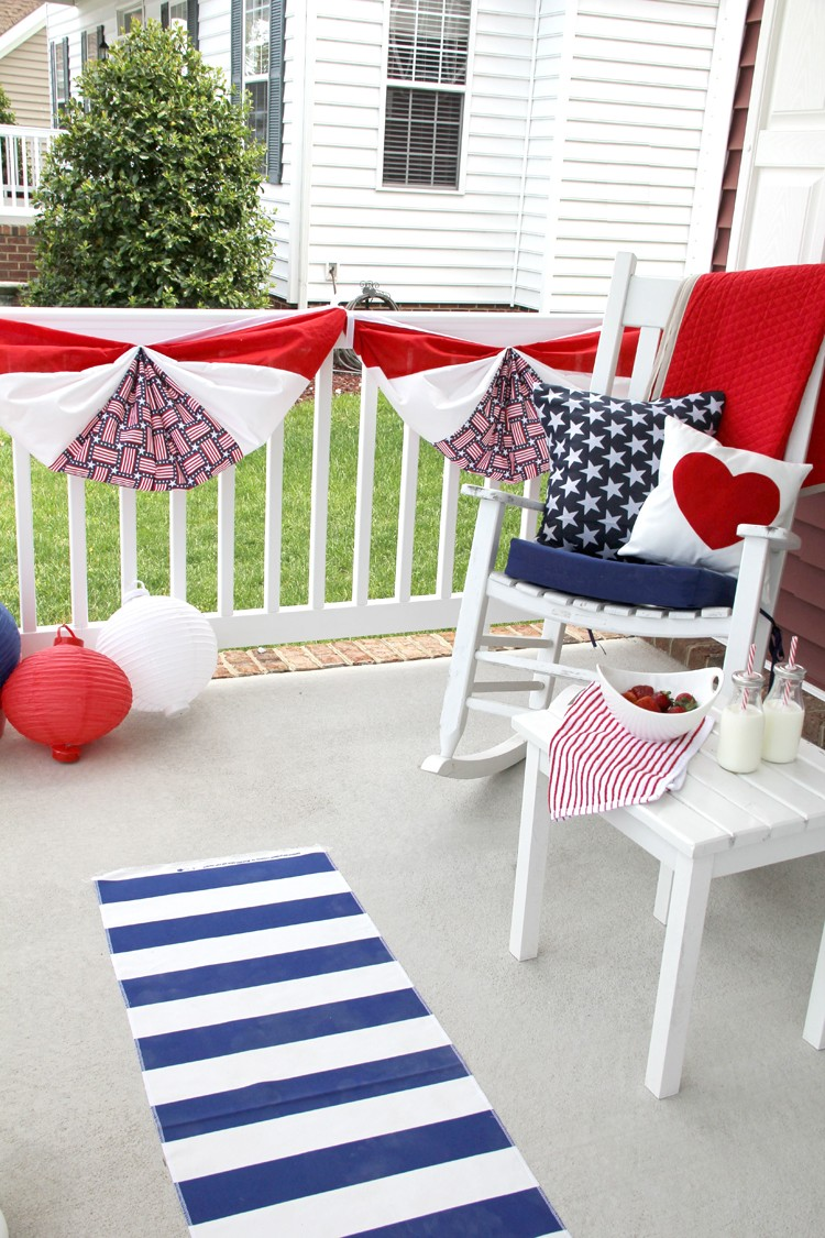 How to make a classic flag bunting - patriotic flag bunting DIY