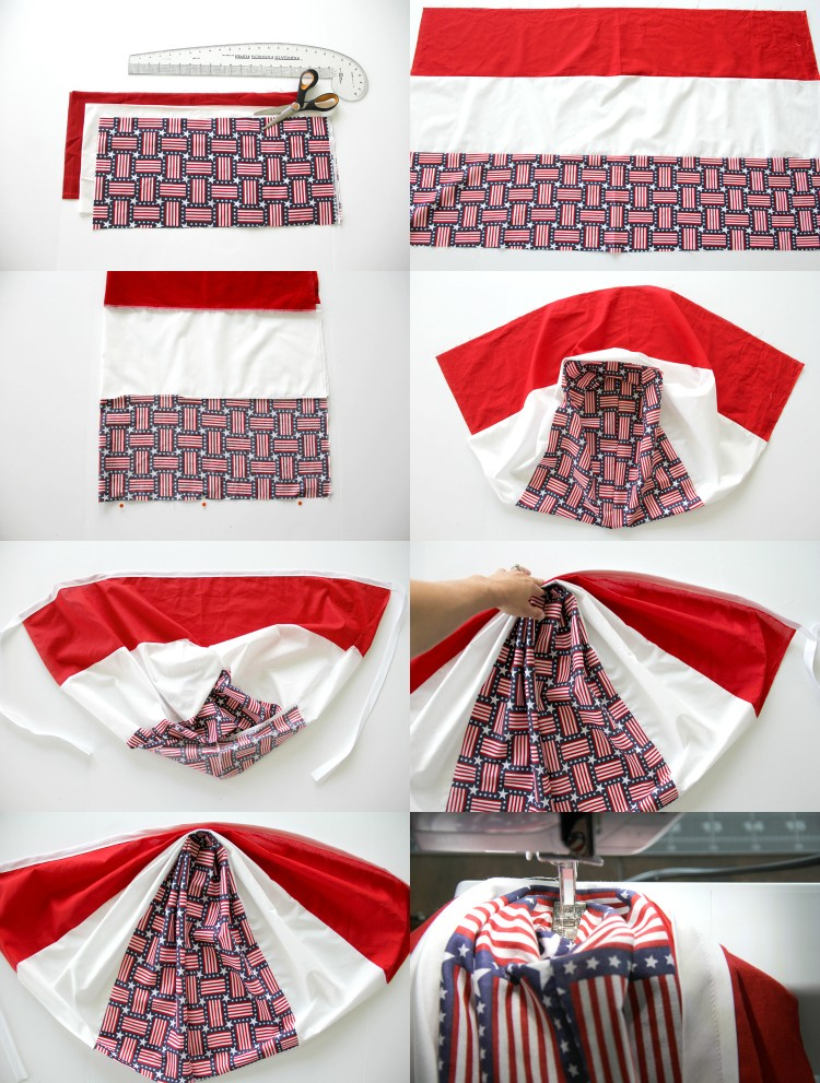 How to make a classic patriotic flag bunting for your home decor