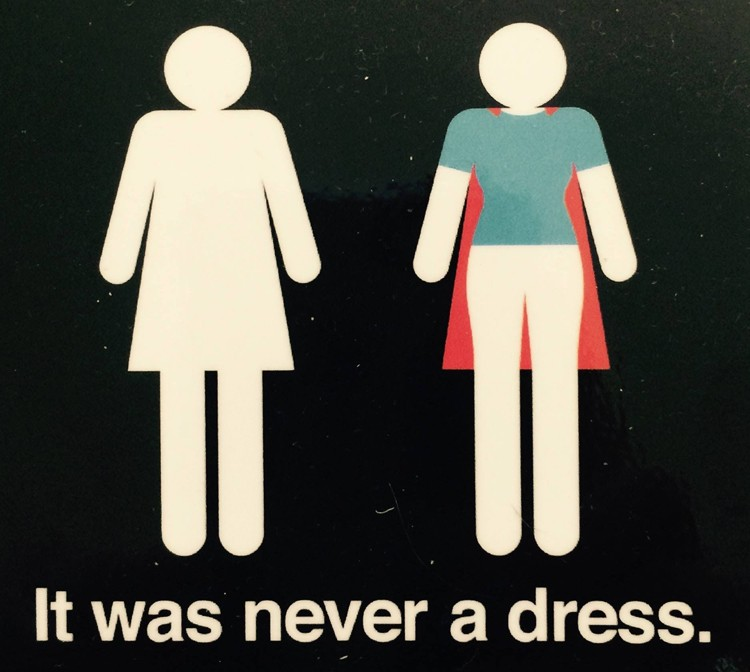 It Was Never a Dress is an invitation to shift perceptions and assumptions about women and the audacious, sensitive, and powerful gestures they make every single day.