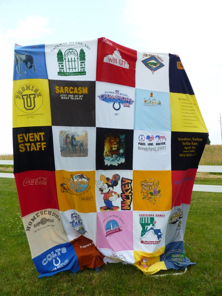 T Shirt Quilt DIY by Buttercups and Door Knobs
