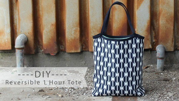 1 hour tote DIY, by Haberdashery Fun