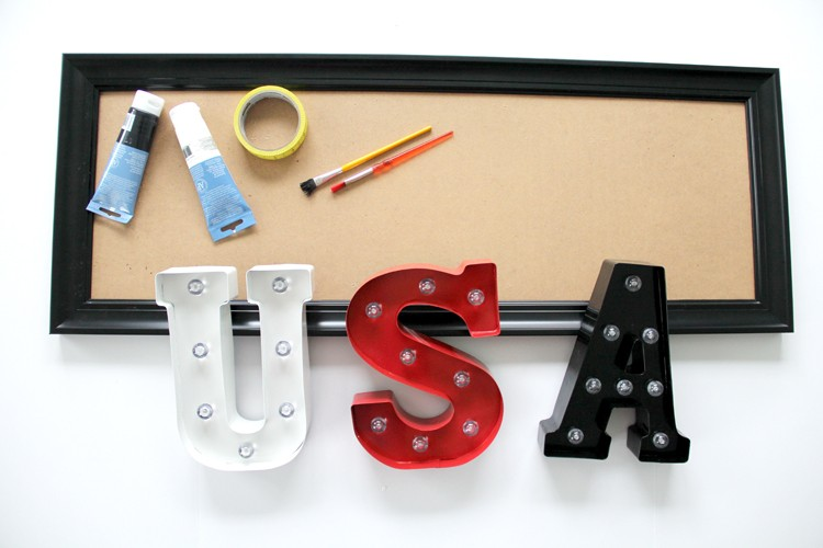 how to make an easy Marquee - USA Marquee DIY