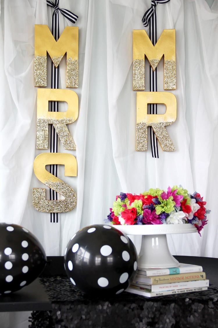 Mr. & Mrs. Wedding Letter Banner DIY